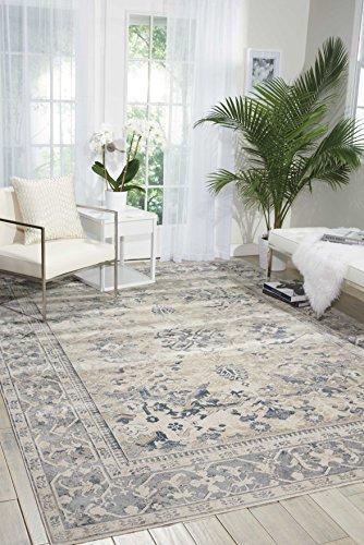 Nourison Teppich Mondrian 99446361370-Elfenbeinfarben/blau maschinengefertigter Teppich, elfenbeinfarben/Blau, 3ft 27,9cm x 5ft 7Zoll - Nourison Teppich Blau
