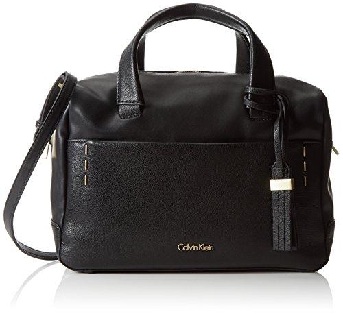 Calvin Klein Jeans Damen Lily Duffle Henkeltaschen, Schwarz (Black 001 001), 31x23x15 cm