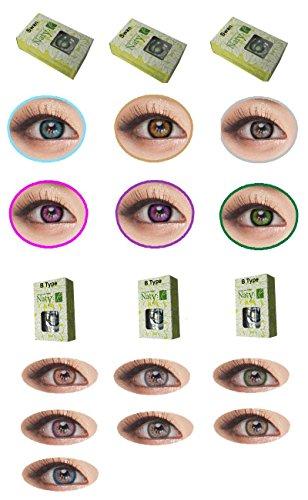 Foto de Naty, lentillas de color sin corrección, fantasía, anuales 1año gris rosa verde azul marrón morado., hazel-naty Btype
