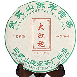GOARTEA 2010 Year 350g (12.3 Oz) Supreme Wu Yi Rock Da Hong Pao Dahongpao Big Red Robe Chinese Oolong Tea Cake Tee