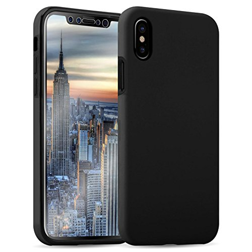 Cover iPhone X, JAMMYLIZARD [Orbit] Custodia 360 Full Body Fronte Retro Protezione Totale con Touch Screen Perfetto per Apple iPhone X / iPhone 10, Trasparente NERO