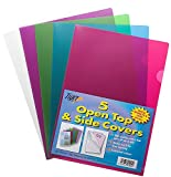Tiger A4 two 2 sided open top and side covers/report files in assorted colours