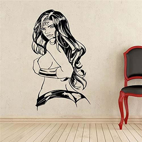 Neymar DIY Wandkunst Dekoration Wonder Woman Aufkleber Superheld Vinyl s Wohnzimmer Aufkleber rosa 75 x 120 cm ()