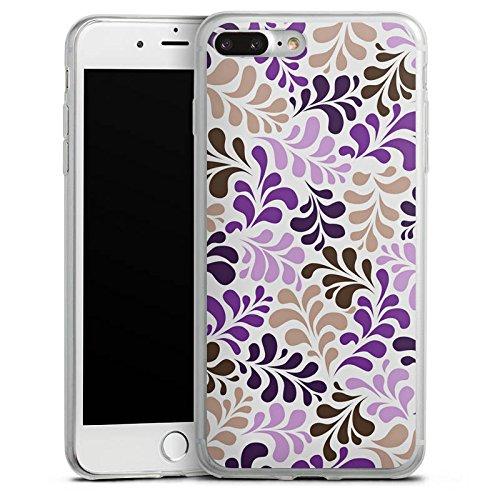 Apple iPhone 8 Slim Case Silikon Hülle Schutzhülle Ornamente Verpixelte Muster Muster Silikon Slim Case transparent