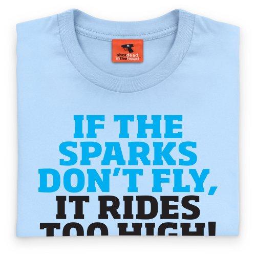 Classic Ford Sparks T-Shirt, Herren Himmelblau