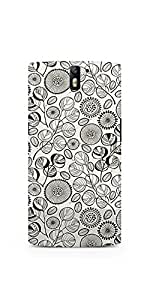 Casenation Floral B&W OnePlus One Matte Case