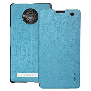 Heartly Premium Luxury PU Leather Flip Stand Back Case Cover For YU Yuphoria YU5010 5010A - Power Blue