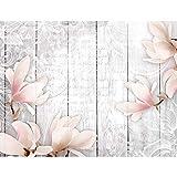 Fototapeten Blumen Vintage Grau 352 x 250 cm Vlies Wand Tapete Wohnzimmer Schlafzimmer Büro Flur Dekoration Wandbilder XXL Moderne Wanddeko Flower 100% MADE IN GERMANY - Runa Tapeten 9117011c