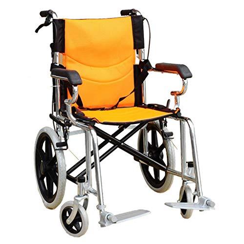 TWL LTD Rollstuhl-Überzug-Aluminiumlegierungs-Rollstuhl, Der Selbstfahrenden Multifunktionsrollstuhl Faltet