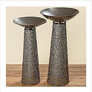 s ule mit schale im set metall antik anthrazit 100 cm schalenst nder 1 st ck garten. Black Bedroom Furniture Sets. Home Design Ideas