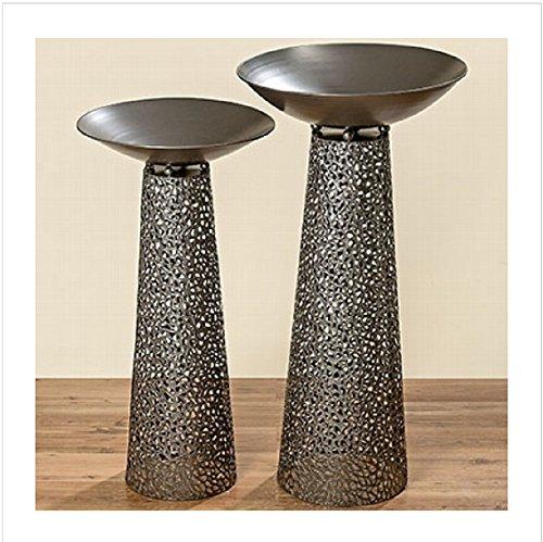 Säule mit Schale im SET Metall antik anthrazit 100 cm Schalenständer 1 STÜCK