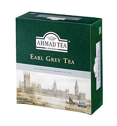 Ahmad Tea – Earl Grey | Schwarzteemischung | 100 Teebeutel á 2 g | Teebeutel mit Band