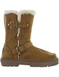 29d90e3e4e7d Ella Fur Lined Alex Twin Buckle Snugg Warm Flat Womens Winter Boots