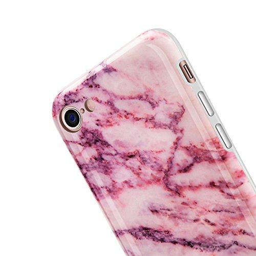 iPhone 6 Plus Hülle, iPhone 6S Plus Marmor Hülle, Vandot TPU Silikon Weich Marble Schutzhülle für iPhone 6+ 6S+ Plus Protective Handy Case Cover[Non Slip, Ultra Thin Slim] Glänzend Soft Handyhülle Sch Muster 9