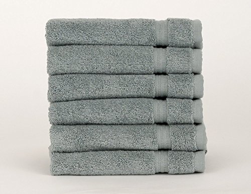 TowelSelections Blossom Collection Soft Handtücher 100% Türkische Baumwolle Made in Türkei, Baumwolle, Lead, 6 x Washcloths -