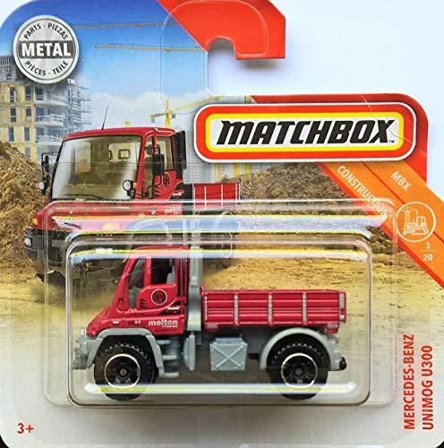 Matchbox* Mercedes-Benz Unimog U300 - 1:64 - rot/grau (MBX-Serie 3/20 Construction 2018) - Baustelle Matchbox