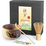 Zekaano Matcha Set - Original japanische Matcha-Schale beige