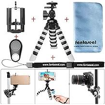 Fantaseal® Trípode flexible para pulpo Gorillapod Mini trípode Trípode para smartphone 5 en 1 Trípode para móvil Trípode para exteriores Trípode de sobremesa Trípode portátil Soporte para trípode Trípode Selfie con clip para teléfono móvil (Ancho máximo: 100mm) para Nikon Canon Pentax Sony Panasonics Olympus Cámara / Videocámara + iPhone 7+ 7 6S+ 6S 6+ 6 5 5C 4S Camara de seguimiento + Nexus Samsung LG HTC Huawei ZTE Sony etc Smartphone con Smartphone Blue Tooth Remote Control