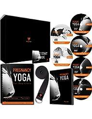 yogamoo (TM) édition limitée Grossesse Yoga Coffret cadeau | Comprend 6disques Grossesse Yoga DVD CD Boîte | facile à ouvrir spirale livre Yoga | 100% coton | Ceinture de yoga 100% Remboursement garantie | cadeau idéal