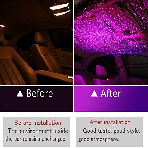 Gebuter Star Ceiling Light Car USB Star Ceiling Light Roof Lights Romantic Night Light Atmospheres Decoration Fiber Optic Star Ceiling Kit Light