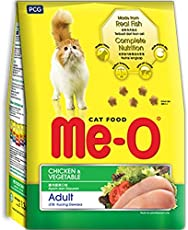 Fins Fur and Feathers Me-O Adult Cat Food Chicken & Vegetable - 1.2Kg