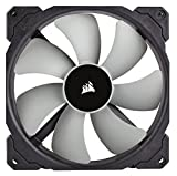 Corsair CO-9050044-WW ML Series ML140 140 mm Low Noise High Pressure Premium Magnetic Levitation Fan - Black (Pack of 2) No LED