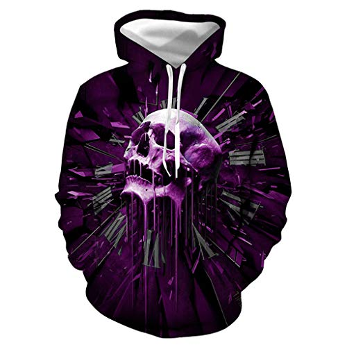 LOLIANNI Herren Halloween Bluse Männliche Casual Lover 3D Gedruckt Party Langarmshirts Hoodie Top Sweatshirt (Hoodies Energy Rockstar Drink)