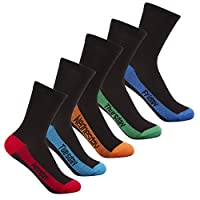 Street Essentials Boys Heel Toe Cotton Rich 5-10 Pairs Socks