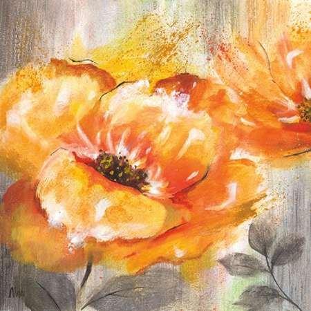 Feeling-at-home-Kunstdruck-Orange-Crush-I-cm60x60-Poster-fuer-Rahmen