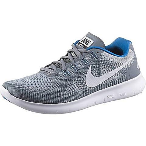 Nike Nike Free Rn 2017 S - cool grey/white-wolf grey-blue, Größe #:10.5