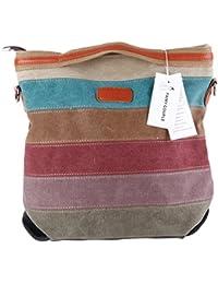 FAIRY COUPLE diseño del arco iris bolsa de la escuela de la manera muchachas de las mujeres bolso diario multifuncional pantalla universal con correas de hombro C5107