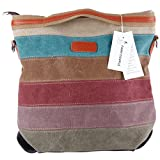 Description from Fashion Plaza: A eifach and fashion design ladies bag, top quality.  Dimension: 36x36x12cm, carrier 150cm langx 3cm wide.  Weight: about 600 grams  Material: Canvas  OWNER shaft: big. Simple, with shoulder strap and handle. Multi fun...
