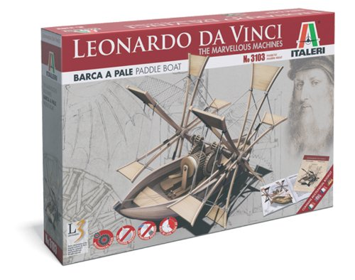 Italeri 510003103 - IT L Da Vinci Paddel Boot (Da-vinci-geräte)