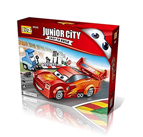 Cars Building Blocks - 2 Character - minifigure brick set - Children's toys DIY Assembly ( Lightning Mcqueen and Guido) …