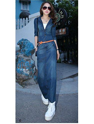 Jeans kleid maxi
