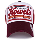 ililily Howel's Distressed Vintage Baseball Mesh Cap Trucker Hat
