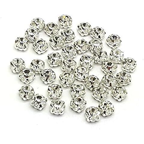 Eimass-Cristalli strass tagliato in vetro incasso argento & oro da cucire/colla, alta qualità-prezzo X100