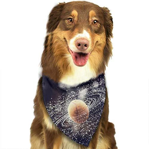 Sdltkhy Tennis Ball Spray Drops Galaxy Fashion Dog Bandana Haustierzubehör Easy Wash Scarf -