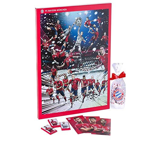 Preisvergleich Produktbild FC Bayern Adventskalender XXL incl. Autogrammkarten + Schokofußbälle im Set