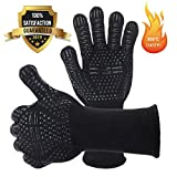 NASUM Grilling Gloves Extreme Heat Resistant Gloves, Instantaneous max Temp 1472°F, BBQ Gloves