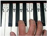 KEYNOTES 'H' Piano Keyboard Klavier Musik Tasten Aufkleber Sticker zum Noten Lernen mit Online Lernhilfen - 52 Etiketten (CDEFGAH)