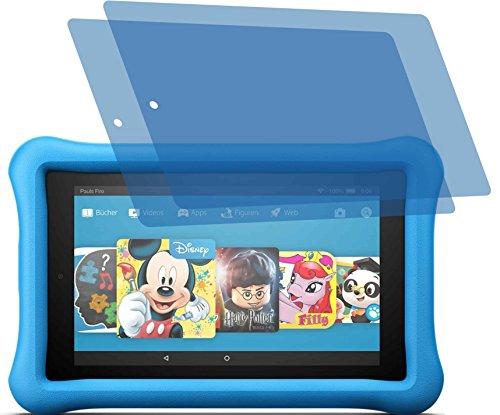 4ProTec 2X ANTIREFLEX matt Schutzfolie für Amazon Fire 7 Kids Edition-Tablet 17,7 cm (7 Zoll) Modell 2017 Premium Displayschutzfolie Bildschirmschutzfolie Schutzhülle Displayschutz Displayfolie Folie