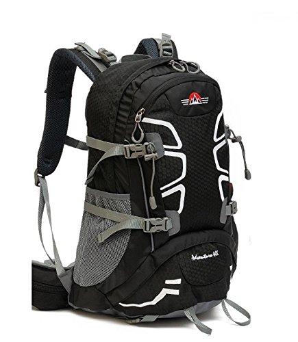 Un nuovo giorno viaggio zaino impermeabile unisex outdoor alpinismo borsa pioggia copertina sport tempo libero turismo capacità 40L , red Black