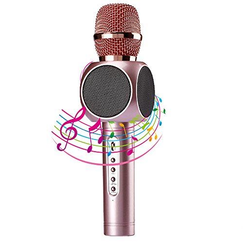 Micrófono Inalámbrico Portátil Bluetooth 3.0 2 Altavoces Incorporad