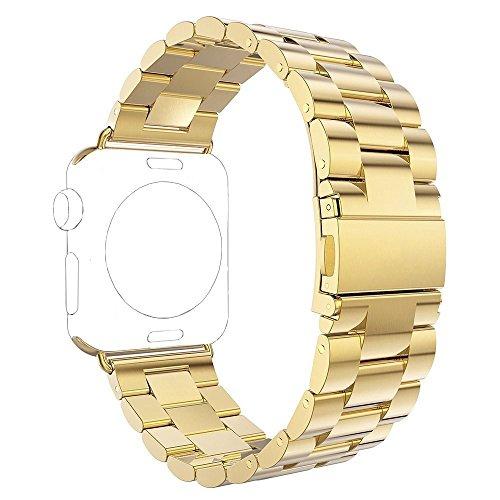 Para Apple iWatch Banda 42MM, Rosa Schleife® Apple Watch Band Correa de Acero Inoxidable Pulsera con Cierre de Metálica Pulsera de Repuesto Clásico Pulsera de reloj de Muñeca para los Apple Watch Deporte & Edición Modelos (no Fit versión de 38mm)