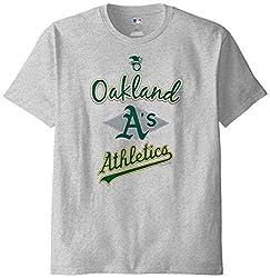 MLB Oakland Athletics Men's 58T Tee, Steel Heather, Large
