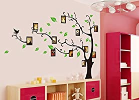 Syga 'Aroma Shop Trees with Photo Frames' Wall Sticker (PVC Vinyl, 61 cm x 5 cm x 5 cm)