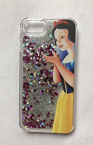 NEW PRINCESS FLOATING LIQUID GLITTER BLING STARS HARD COVER CASE IPHONE 7 PLUS CINDERELLA 1 SNOW WHITE