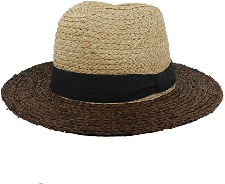 Shuo lan hu wai Mix New Cappello da Sole Coloree Mix wai per Le Donne  Cappello in Paglia di Rafia da Spiaggia con Cappello... 7f500f 2e00dc2bf35e