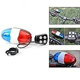 LCLrute 6 Fahrrad LED Licht + 4 Laute Sirene Sound Trompete Radfahren Horn Bell Polizei Tricolor Horn Berg Fahrrad Lampe
